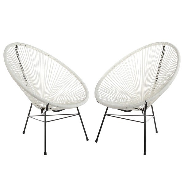 set of 2 polivaz woven basket lounge chairs china