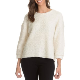 Chelsea and Theodore Women's Faux Sherpa Sweater