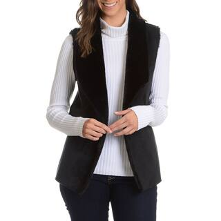 Chelsea and Theodore Women's Faux Suede and Faux Fur Vest|https://ak1.ostkcdn.com/images/products/10495728/P17585301.jpg?impolicy=medium