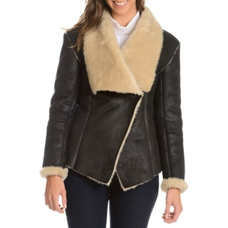 Chelsea and Theodore Women's Faux Shearling Jacket