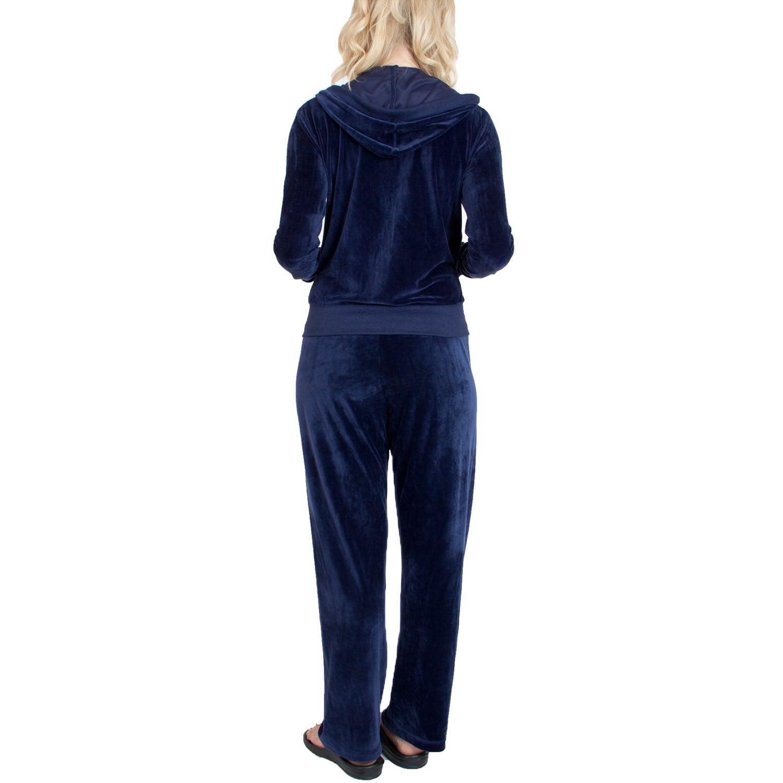 USA Dawgs Agiato Apparel Velour Suit (Grey - XS), Women's