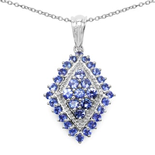 Malaika .925 Sterling Silver 1 1/2ct TGW Genuine Tanzanite Pendant