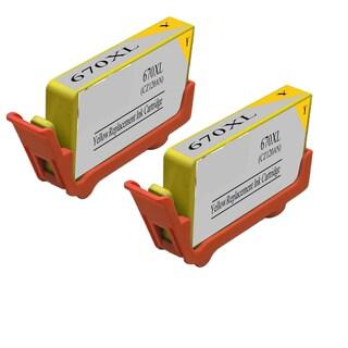 670XL Y (CZ120AL) Compatible Inkjet Cartridge For 3520 5520 4615 4625 6525 (Pack of 2)