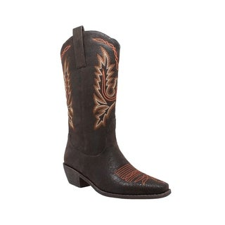 Women's AdTec 8616 14in Western Pull On Boot Dark Brown