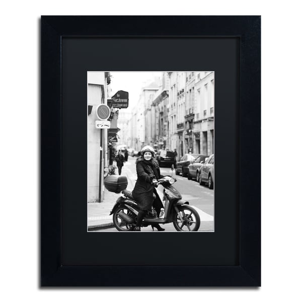 Preston \'Lady in Paris\' Black Matte, Black Framed Wall Art - Free ...