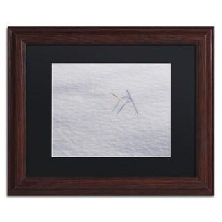 Kurt Shaffer 'Winters Bleak Beauty' Black Matte, Black Framed Wall Art