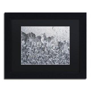 Kurt Shaffer 'Frost Mosaic 2' Black Matte, Black Framed Wall Art