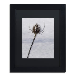 Kurt Shaffer 'Dead of Winter Detail' Black Matte, Black Framed Wall Art