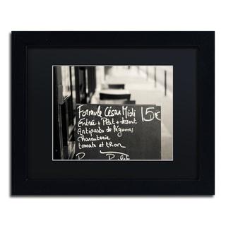 Preston 'Parisian Menu' Black Matte, Wood Framed Wall Art