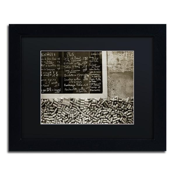 Preston \'Parisian le Sac a Dos\' Black Matte, Black Framed Wall Art ...