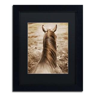 Preston 'Kentucky Horsemane' Black Matte, Wood Framed Wall Art