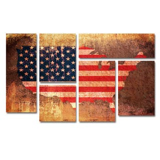 Wood Map Art Gallery For Less Overstockcom - Wood us map