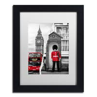 Philippe Hugonnard 'Look at London' Black Matte, Black Framed Wall Art