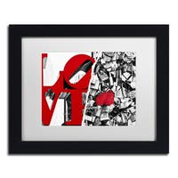 Philippe Hugonnard 'Love' Black Matte, Black Framed Wall Art