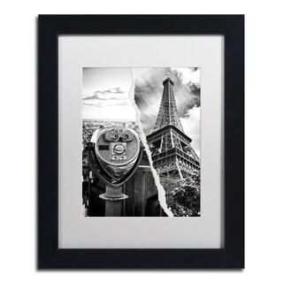 Philippe Hugonnard 'Looking Away' Black Matte, Black Framed Wall Art