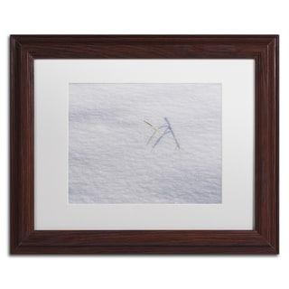 Kurt Shaffer 'Winters Bleak Beauty' White Matte, Black Framed Wall Art