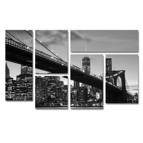 CATeyes 'Brooklyn Bridge 5' Canvas Wall Art