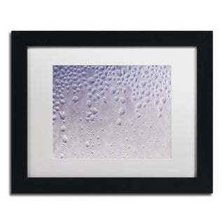 Kurt Shaffer 'Droplets Abstract on my Window' White Matte, Black Framed Wall Art