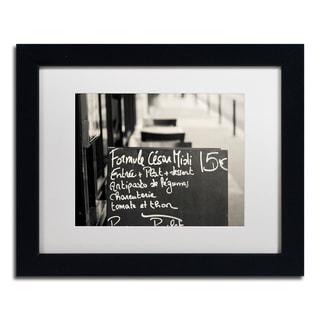 Preston 'Parisian Menu' White Matte, Black Framed Wall Art