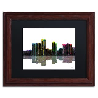 Marlene Watson 'Little Rock Arkansas Skyline II' Black Matte, Black Framed Wall Art