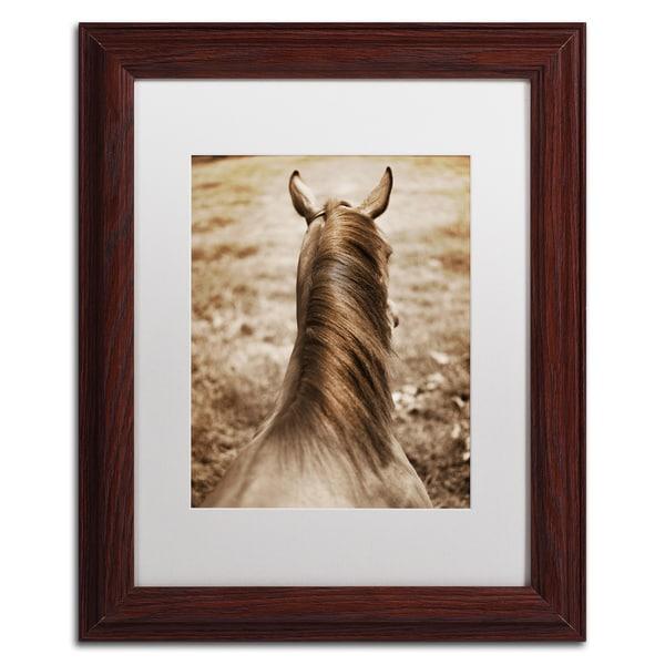 Preston 'Kentucky Horsemane' White Matte, Black Framed Wall Art