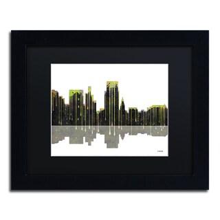 Marlene Watson 'Boise Idaho Skyline II' Black Matte, Black Framed Wall Art