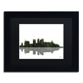 Marlene Watson 'Birmingham Alabama Skyline II' Black Matte, Black Framed Wall Art
