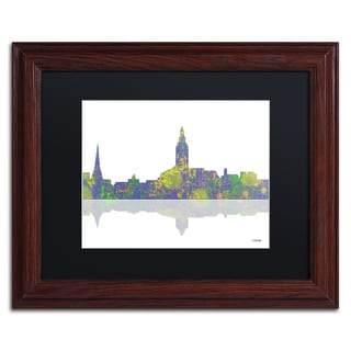 Marlene Watson 'Annapolis Maryland Skyline II' Black Matte, Wood Framed Wall Art