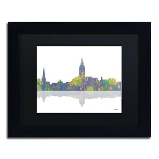 Marlene Watson 'Annapolis Maryland Skyline II' Black Matte, Black Framed Wall Art