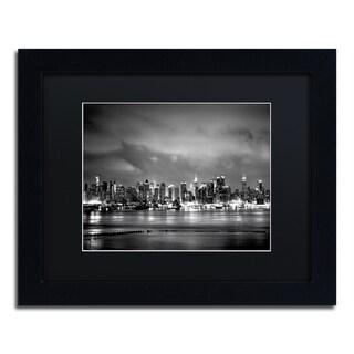 Preston 'New York Skyline' Black Matte, Black Framed Wall Art