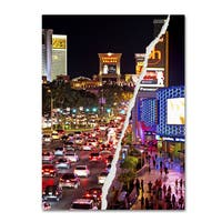 Philippe Hugonnard 'The City of Las Vegas' Canvas Wall Art - Multi