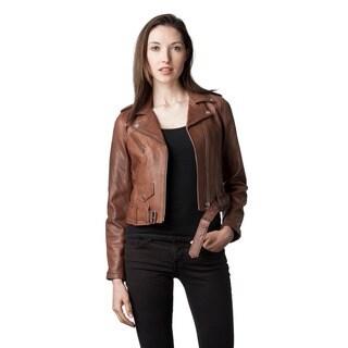 Mason & Cooper Women's Ivy Leather Moto