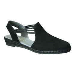 Women's David Tate Nelly Slingback Black Nubuck