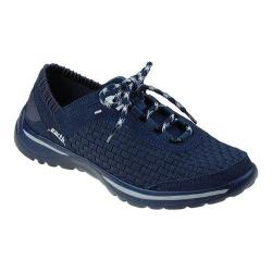 Women's Earth Agile Lace Up Shoe Navy Woven Fiber