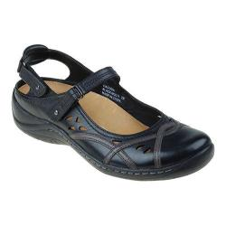Women's Earth Pagoda Mary Jane Black Soft Buff Brush Off