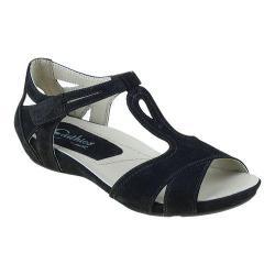Women's Earthies Ponza T Strap Sandal Black Soft Buck