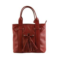 Women's Hadaki by Kalencom Tassel Tote Deep Red