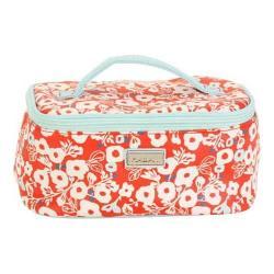 Women's Hadaki by Kalencom Train Cosmetic Case Berry Blossom Red