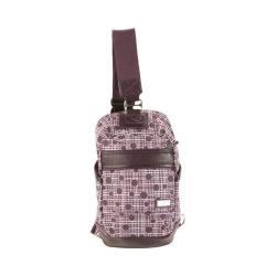 Hadaki by Kalencom Urban Plum Perfect Plaid Sling Backpack