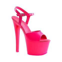 Women's Pleaser Sky 309UV Heel Neon Hot Pink Patent/Hot Pink