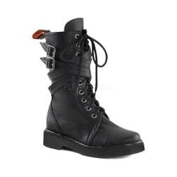 Women's Demonia Rival 307 Boot Black Vegan Leather