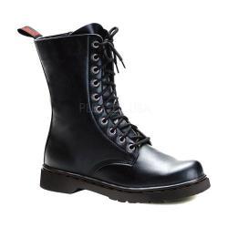 Men's Demonia Defiant 200 Boot Black Vegan Leather