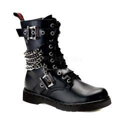 Men's Demonia Defiant 204 Boot Black Vegan Leather