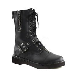 Men's Demonia Defiant 206 Black Vegan Leather Boots