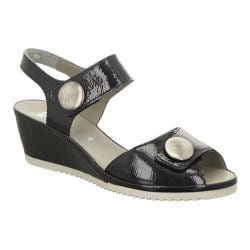 Women's ara Carrie 37113 Sandal Black Nubuck
