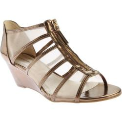 Women's Bandolino Opie Sandal Dark Gold/Dark Gold Synthetic