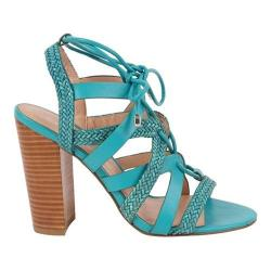 Women's Charles by Charles David Greensboro Lace Up Sandal Seagreen Braided Leather