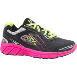 Girls' Fila Imperative Running Shoe Black/Knockout Pink/Safety Yellow