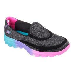 Girls' Skechers GOwalk 2 Sweet Socks Slip On Black/Multi
