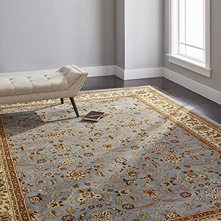 Safavieh Lyndhurst Traditional Oriental Light Blue/ Ivory Rug (8' x 11')
